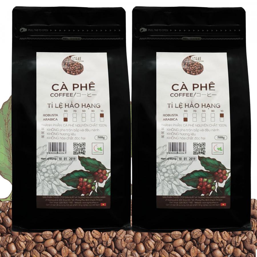 2 gói Cà phê hạt nguyên chất 100% Tỉ lệ Hảo Hạng - 10% Robusta + 90% Arabica - Light coffee - gói 500g - 1398904 , 8425001376824 , 62_7001883 , 730000 , 2-goi-Ca-phe-hat-nguyen-chat-100Phan-Tram-Ti-le-Hao-Hang-10Phan-Tram-Robusta-90Phan-Tram-Arabica-Light-coffee-goi-500g-62_7001883 , tiki.vn , 2 gói Cà phê hạt nguyên chất 100% Tỉ lệ Hảo Hạng - 10% Robus