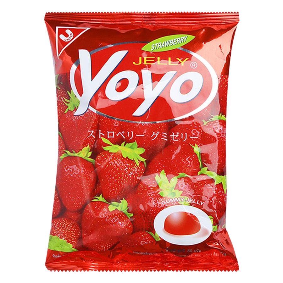 Kẹo Dẻo Yoyo Hương Dâu Gói 80g