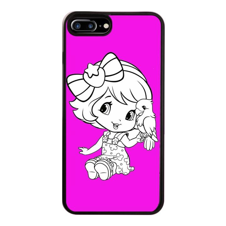 Ốp Lưng Kính Cường Lực Dành Cho Điện Thoại iPhone 7 Plus / 8 Plus Baby Strawberry Mẫu 4