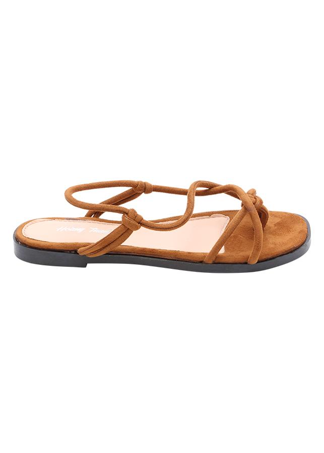 Giày Sandal Nữ Đế Bệt VC 41 - Nâu
