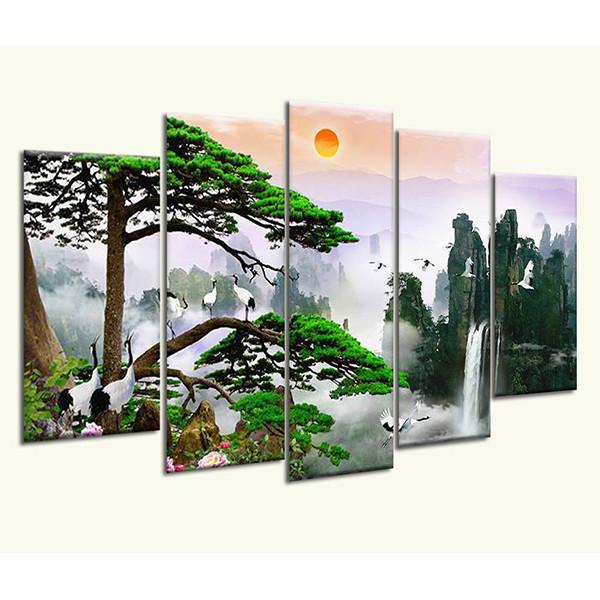 Tranh Treo Tường Thác nước sơn thủy 920004553- Tranh treo tường phòng khách