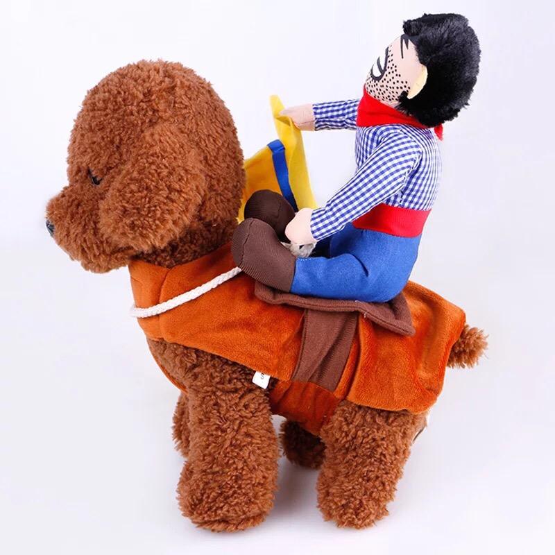 Áo cao bồi cho chó (cho chó tử 3-7kg)