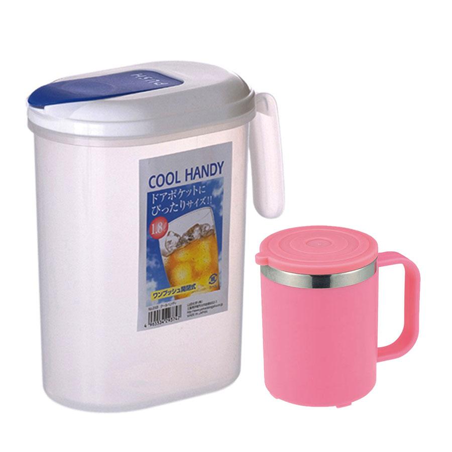 Combo Bình đựng nước có quai Cool Handy 1.8L + Cốc giữ nhiệt lõi inox nội địa Nhật Bản (giao màu ngẫu nhiên) - 1301213 , 5054244332323 , 62_8452144 , 260000 , Combo-Binh-dung-nuoc-co-quai-Cool-Handy-1.8L-Coc-giu-nhiet-loi-inox-noi-dia-Nhat-Ban-giao-mau-ngau-nhien-62_8452144 , tiki.vn , Combo Bình đựng nước có quai Cool Handy 1.8L + Cốc giữ nhiệt lõi inox nội