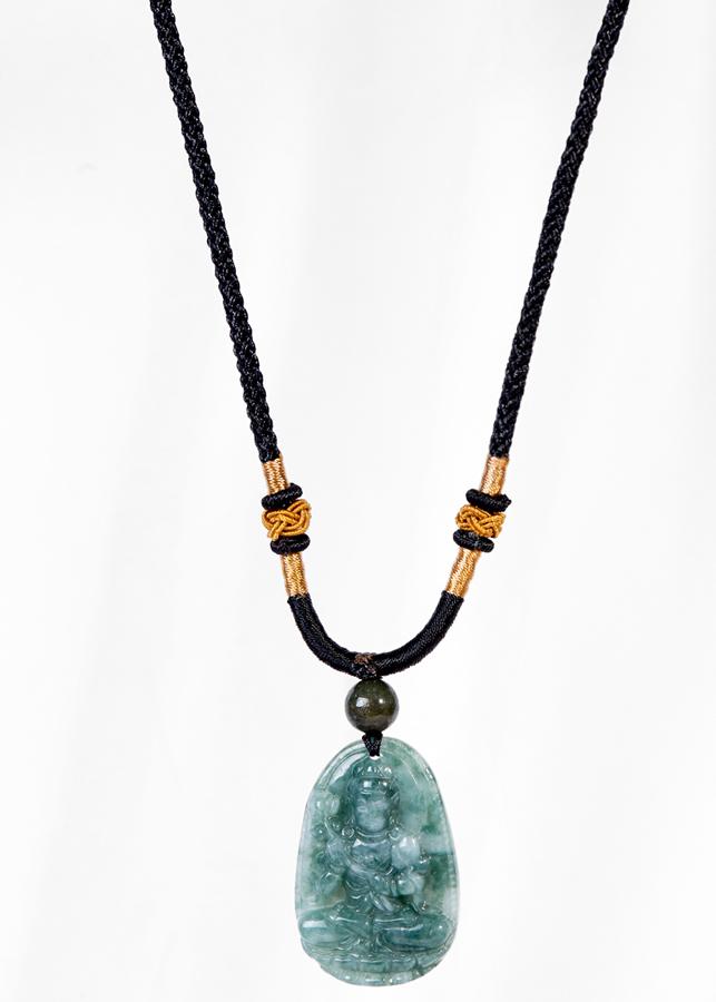 Mặt Dây Chuyền Phật Bản Mệnh Tuổi Ngọ Đại Thế Chí Bồ Tát Đá Cẩm Thạch Nước Ngọc Ngọc Quý Gemstones