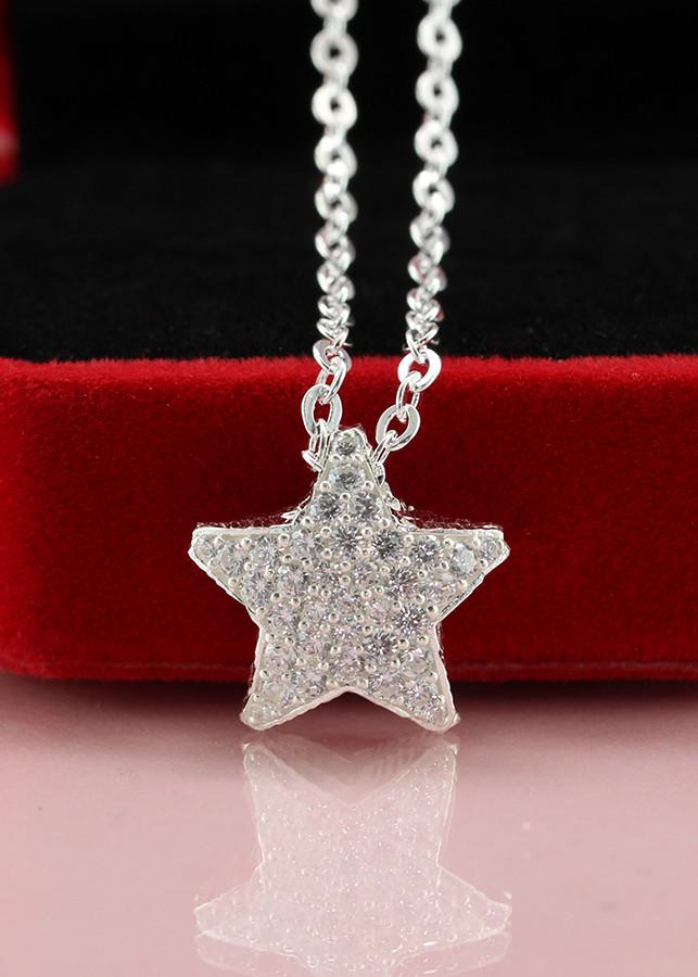 Dây chuyền bạc nữ mặt ngôi sao đính đá DCN0293 - Trang Sức TNJ