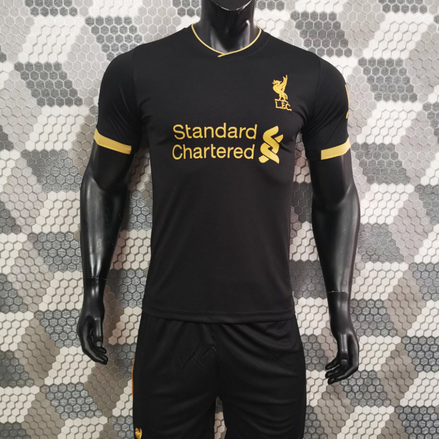 Bộ Quần Áo Bóng Đá CLB Liverpool Đen Vàng - Đồ Đá Banh Mới Nhất 19-20