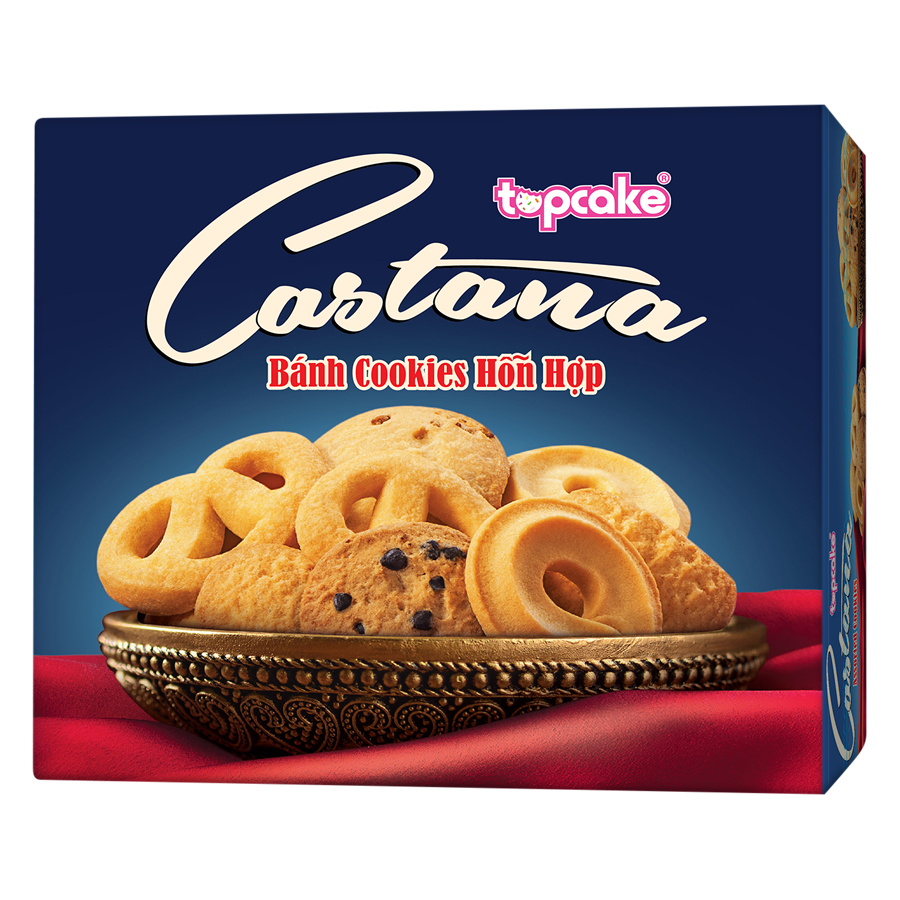 Bánh Cookies TOPCAKE CASTANA (Hộp 280g) - Xanh - 9447247 , 3648878746643 , 62_1110536 , 46000 , Banh-Cookies-TOPCAKE-CASTANA-Hop-280g-Xanh-62_1110536 , tiki.vn , Bánh Cookies TOPCAKE CASTANA (Hộp 280g) - Xanh