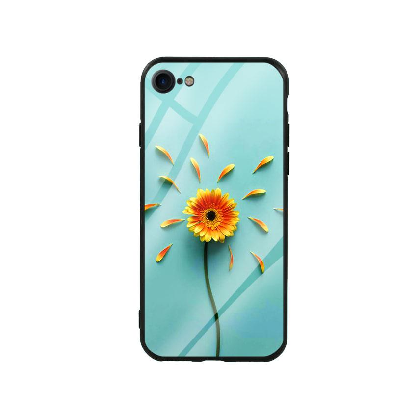 Ốp lưng kính cường lực cho điện thoại Iphone 7/8 - Sun Flower 02
