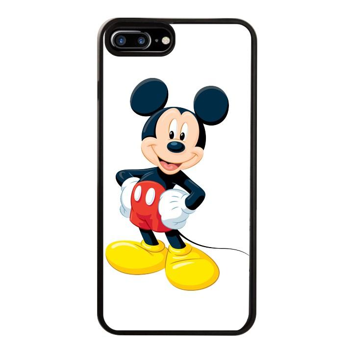 Ốp Lưng Kính Cường Lực Dành Cho Điện Thoại iPhone 7 Plus / 8 Plus Chuột Mickey Mẫu 1