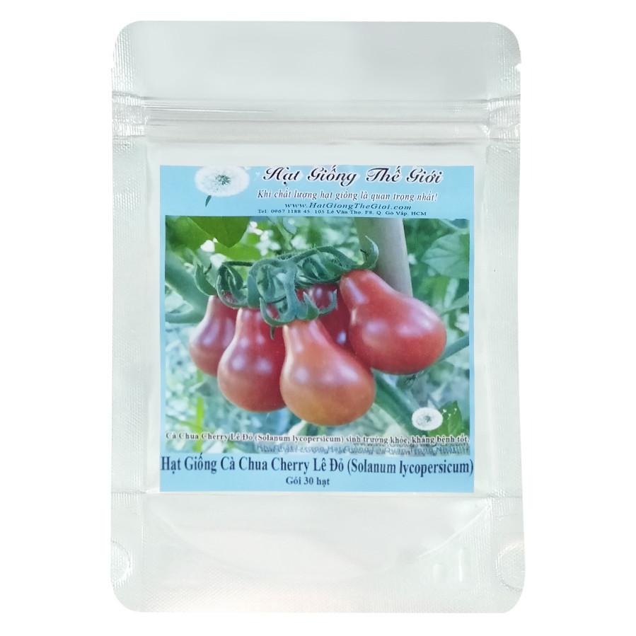 Hạt Giống Cà Chua Cherry Lê Đỏ - Solanum lycopersicum (30 Hạt)