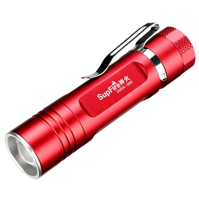 Đèn pin chiếu tia cực tím SupFire UV04(Đỏ)