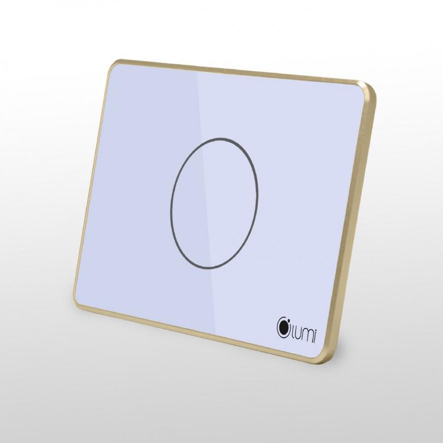 Công tắc cảm ứng chữ nhật điều khiển quạt Lumi LM-F - Trắng