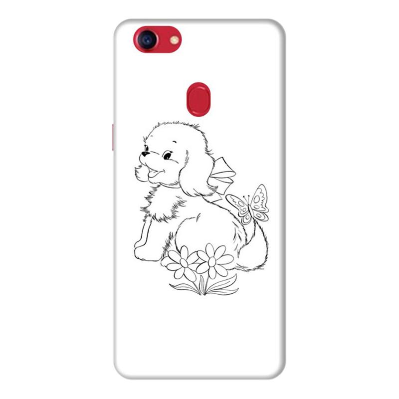 Ốp Lưng Dành Cho Điện Thoai Oppo F7 - Puppy Cute