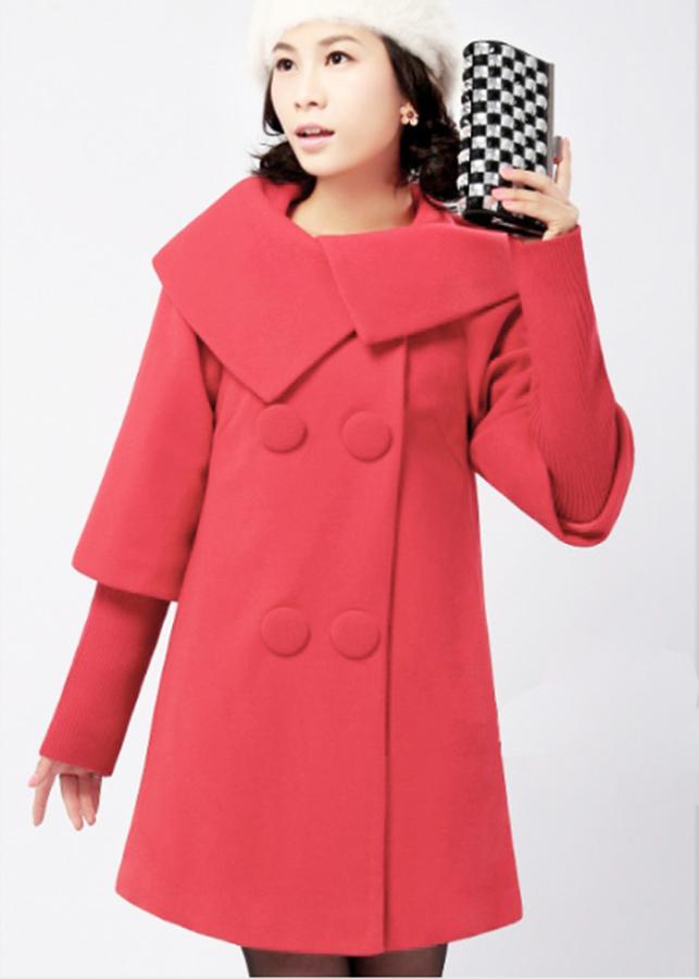 Áo khoác dạ nữ tính đẹp kiểu áo khoác dạ nữ phong cánh phối tay len cao cấp AKD0263GT