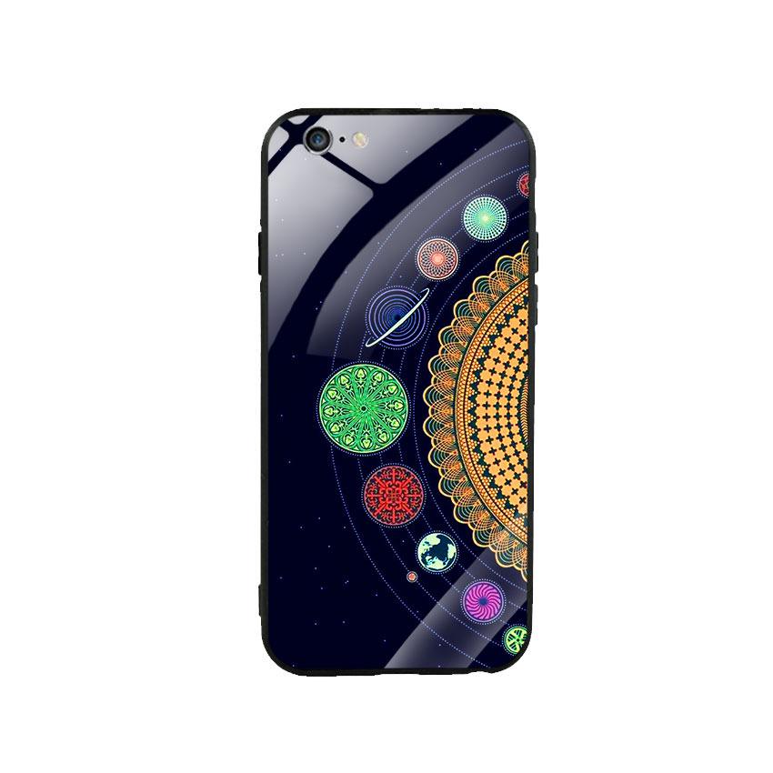 Ốp lưng kính cường lực cho điện thoại Iphone 6 Plus / 6s Plus - Galaxy