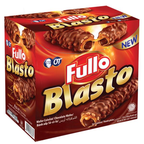 Bánh xốp Sô cô la Fullo Blasto 18gr (Fullo Blasto Stick Wafer Chocoate 18 gr)