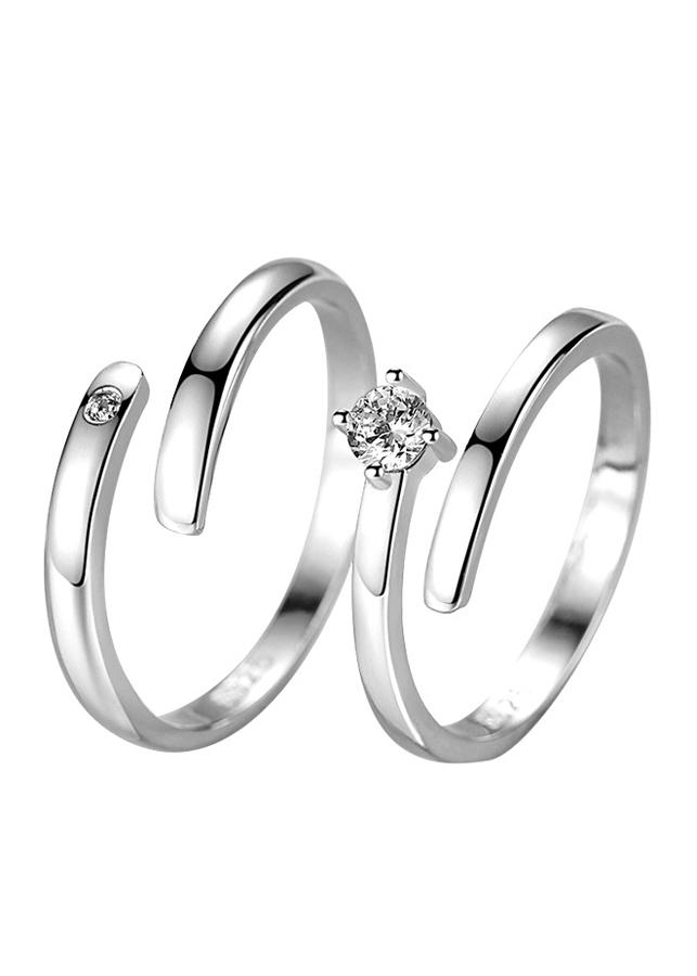 Nhẫn bạc cặp đôi Model J038