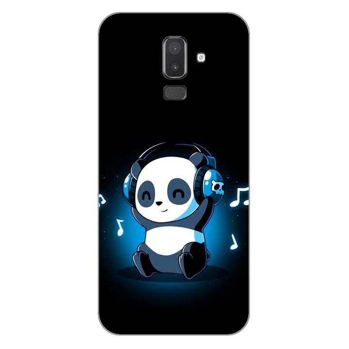 Ốp lưng dẻo cho điện thoại Samsung Galaxy J8_Panda 05