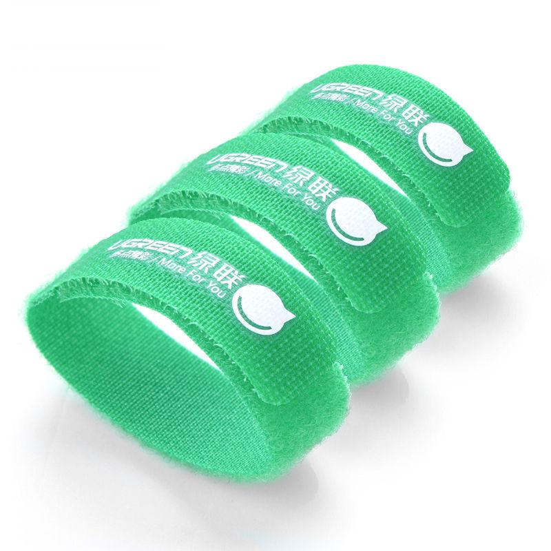 Bộ 3 Dây dán Velcro tiện dụng dài 17.8cm UGREEN 20314 (màu xanh lá cây)