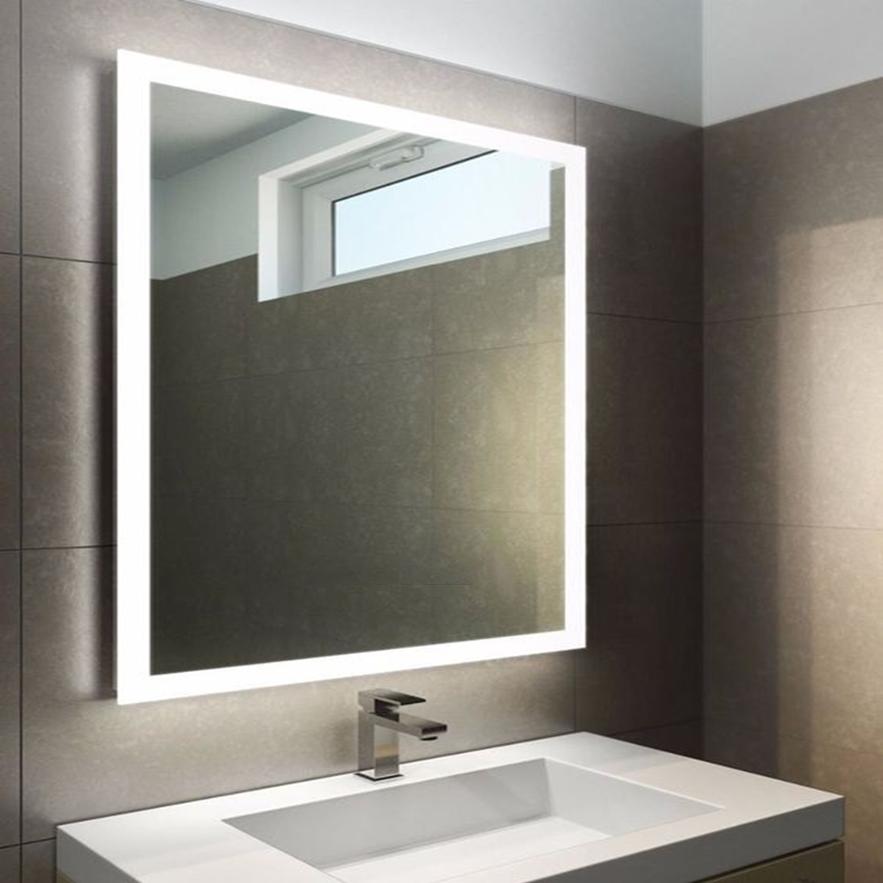Gương chữ nhật đèn led cảm ứng công nghệ thông minh 50x70