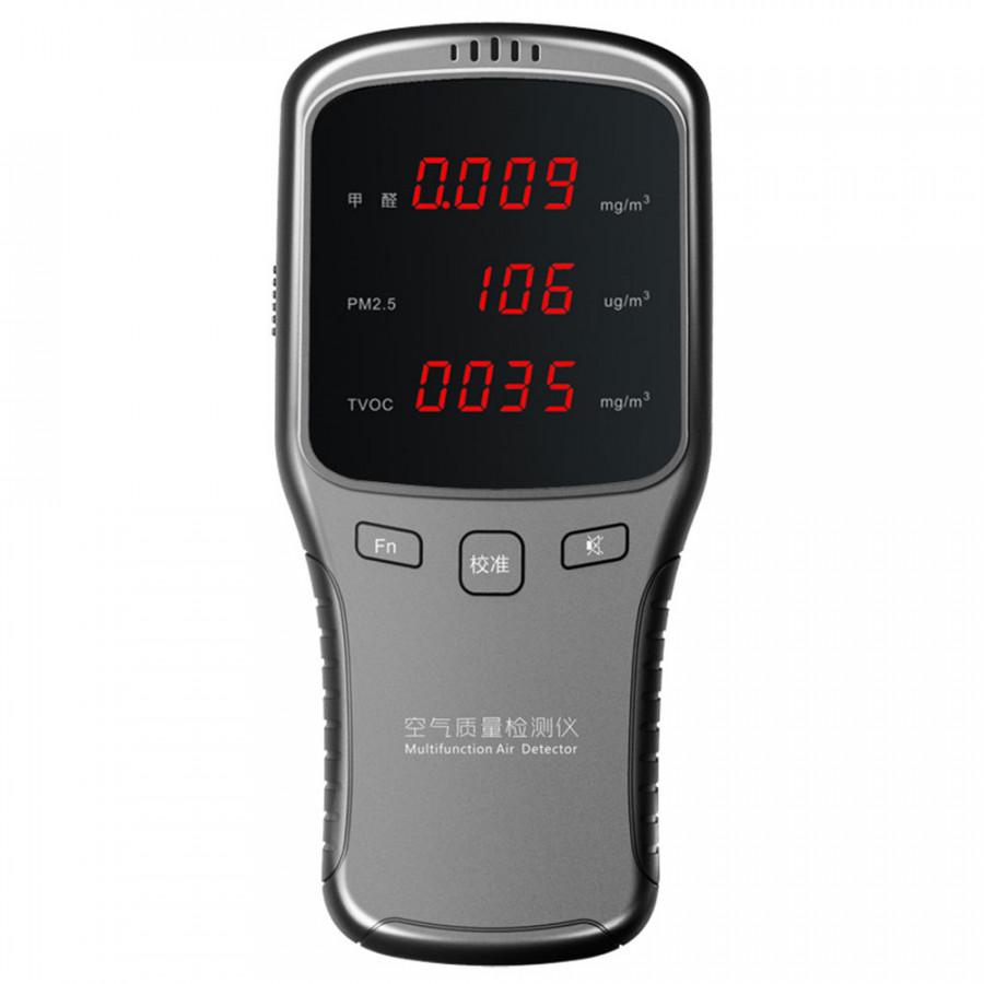 Smog Detector Formaldehyde Detector Practical ABS Silver Gray PM2.5 Air Detector