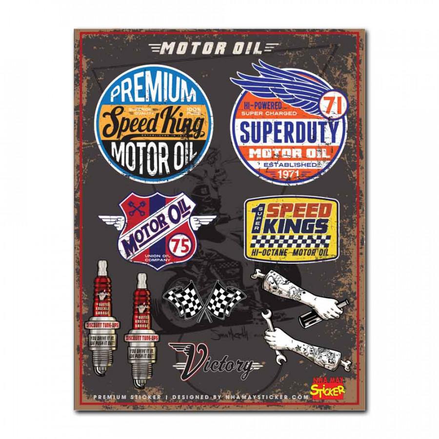 Hình dán - Premium Sticker - Motor Oil