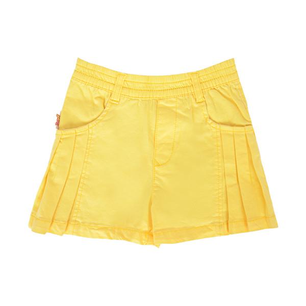 Quần Short Bé Gái Xếp Ly Giả Váy YF 5QX072 - Vàng