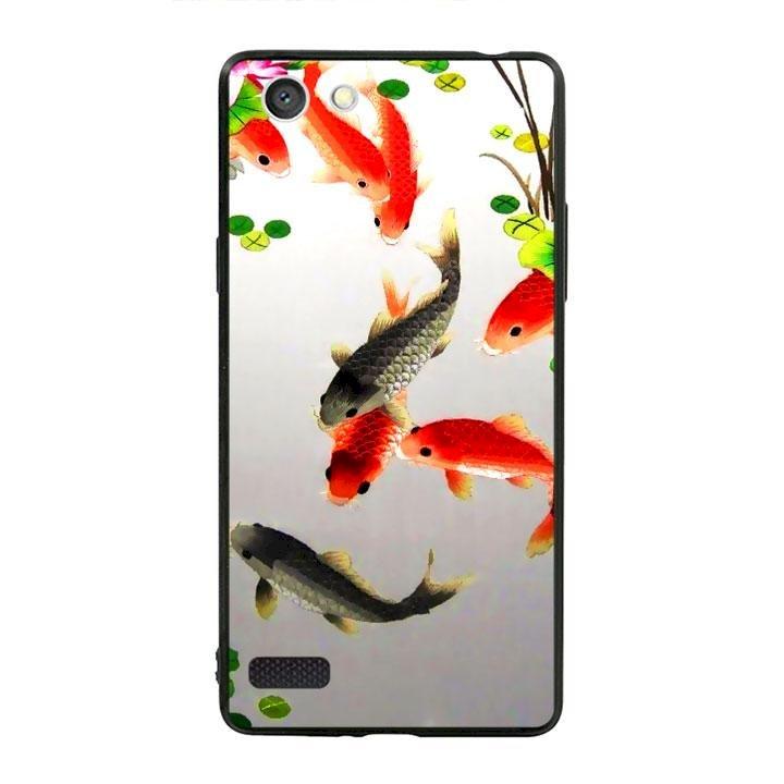 Ốp lưng viền TPU cho dành cho Oppo Neo 7 - Fishes 03