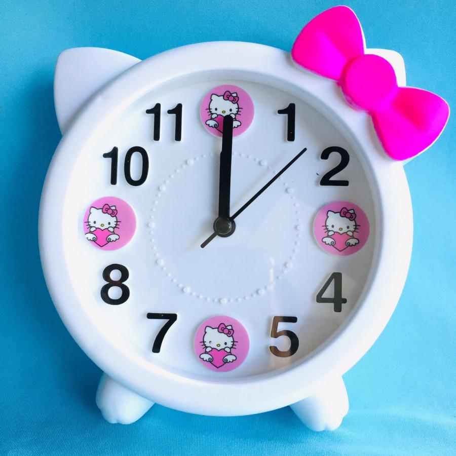 Đồng hồ báo thức để bàn mèo nơ Kitty HX3162 ( trắng) - màu ngẫu nhiên - 1612108 , 4840336131292 , 62_11101600 , 190000 , Dong-ho-bao-thuc-de-ban-meo-no-Kitty-HX3162-trang-mau-ngau-nhien-62_11101600 , tiki.vn , Đồng hồ báo thức để bàn mèo nơ Kitty HX3162 ( trắng) - màu ngẫu nhiên