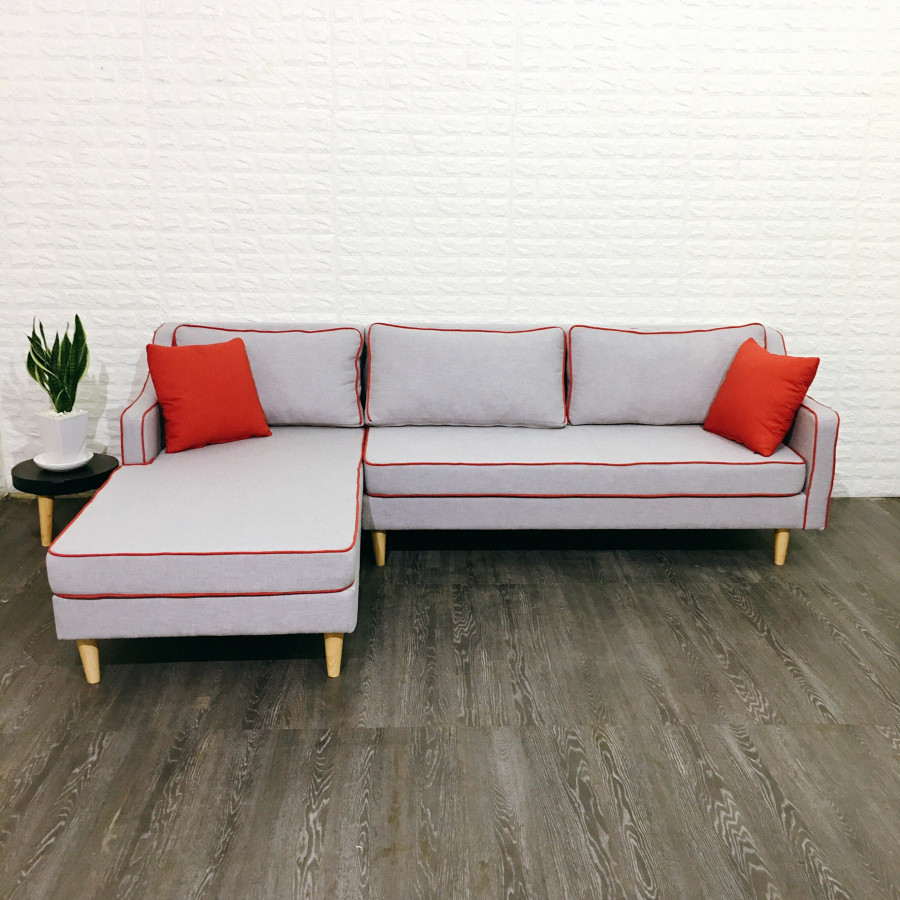 Sofa Góc L Luxury Viền Nổi (240x160x80cm)