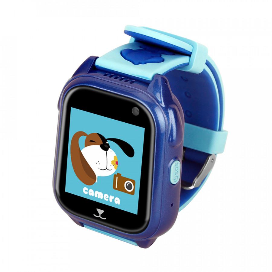 "Kids Smart Watch Phone For Children Girls Boys 1.44"" Touch Screen Ip67 Waterproof Gps Locator Tracker Sos Call Anti-Lost - Blue"