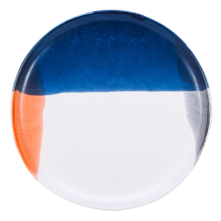 Ceramic Plate Porcelain Dessert Salad Plate Cute Fruit Saucer Dishwasher and Microwave Safe Multicolor