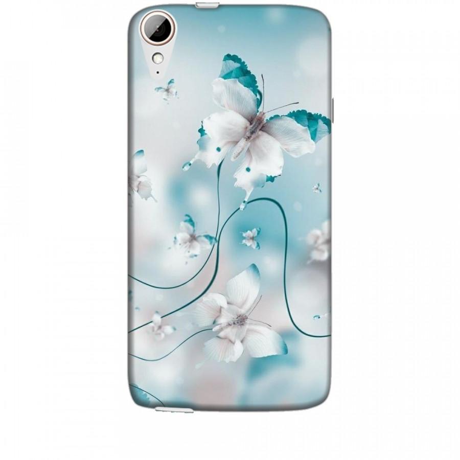 Ốp lưng dành cho điện thoại HTC 828 Cánh Bướm Xanh Mẫu 1
