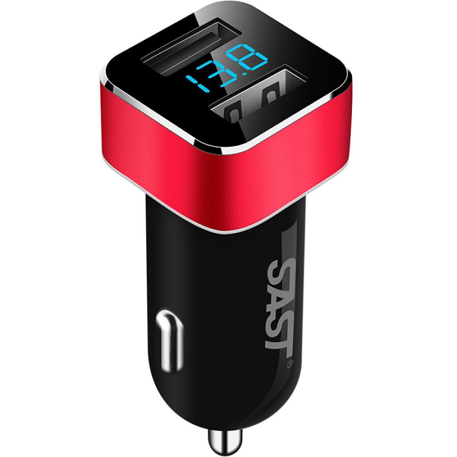 Cốc Sạc Xe Hơi SAST T17 2 Cổng Sạc USB 3.1A - Hàng Chính Hãng