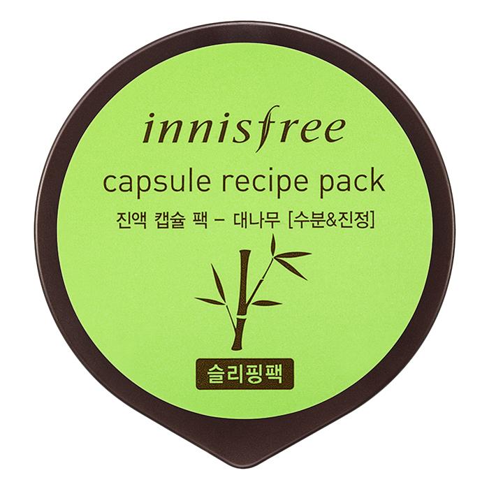 Mặt Nạ Ngủ Dưỡng Ẩm  Làm Mịn Da Từ Tre Innisfree Capsule Recipe Pack - Bamboo (10ml)