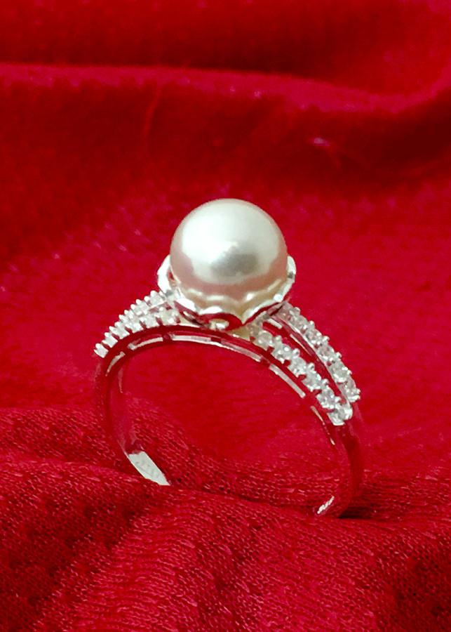 Nhẫn nữ ngọc trai bạc 925 cao cấp không xi mạ Bạc Quang Thản - NU34(trắng)