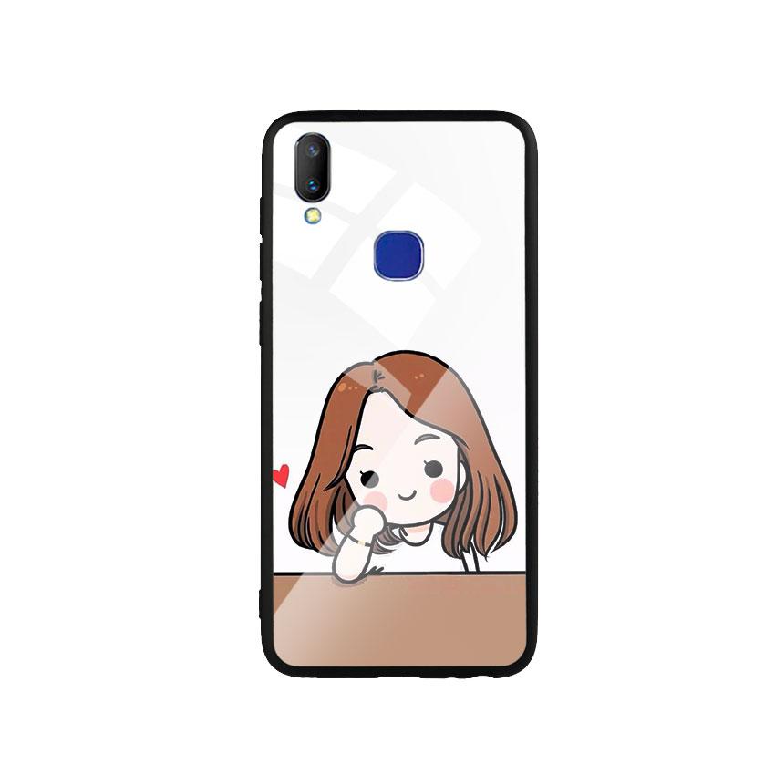 Ốp Lưng Kính Cường Lực cho điện thoại Vivo V11i - Couple Girl 03