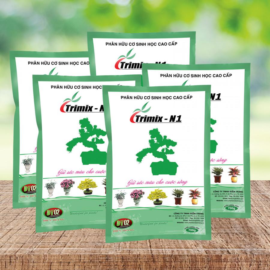 Combo 5 gói phân hữu cơ sinh học TRIMIX-N1 dạng viên 700g - 1401812 , 3399610790690 , 62_7047101 , 137500 , Combo-5-goi-phan-huu-co-sinh-hoc-TRIMIX-N1-dang-vien-700g-62_7047101 , tiki.vn , Combo 5 gói phân hữu cơ sinh học TRIMIX-N1 dạng viên 700g
