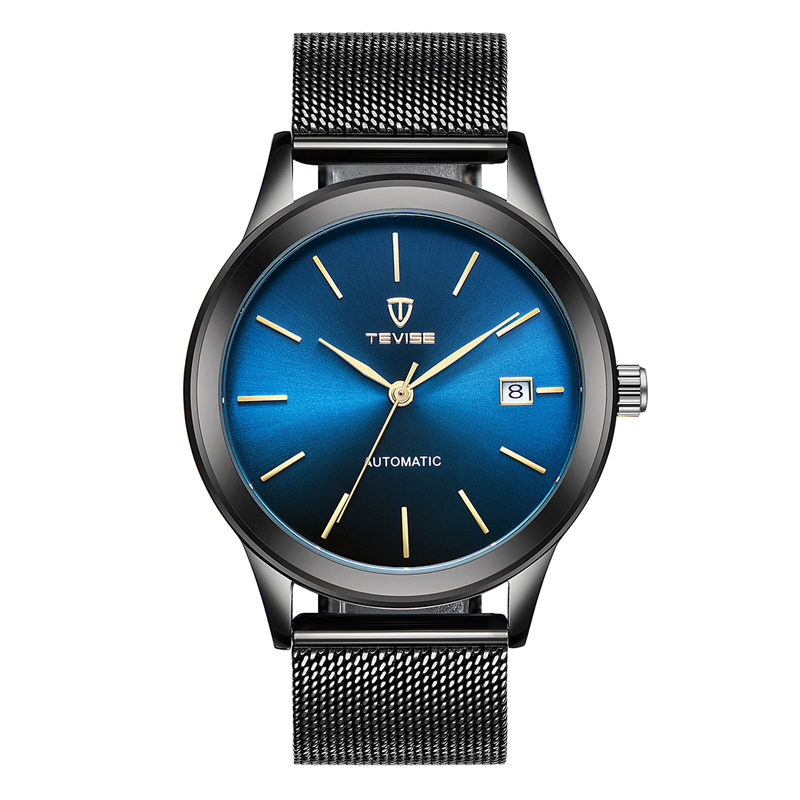 TEVISE Brand Luxury Gold Automatic Mechanical Men Watch Water-Proof Mesh Stainless Steel Band Self-Winding Man Casual - Black - 1842770 , 7736398344770 , 62_13893203 , 744000 , TEVISE-Brand-Luxury-Gold-Automatic-Mechanical-Men-Watch-Water-Proof-Mesh-Stainless-Steel-Band-Self-Winding-Man-Casual-Black-62_13893203 , tiki.vn , TEVISE Brand Luxury Gold Automatic Mechanical Men Wat