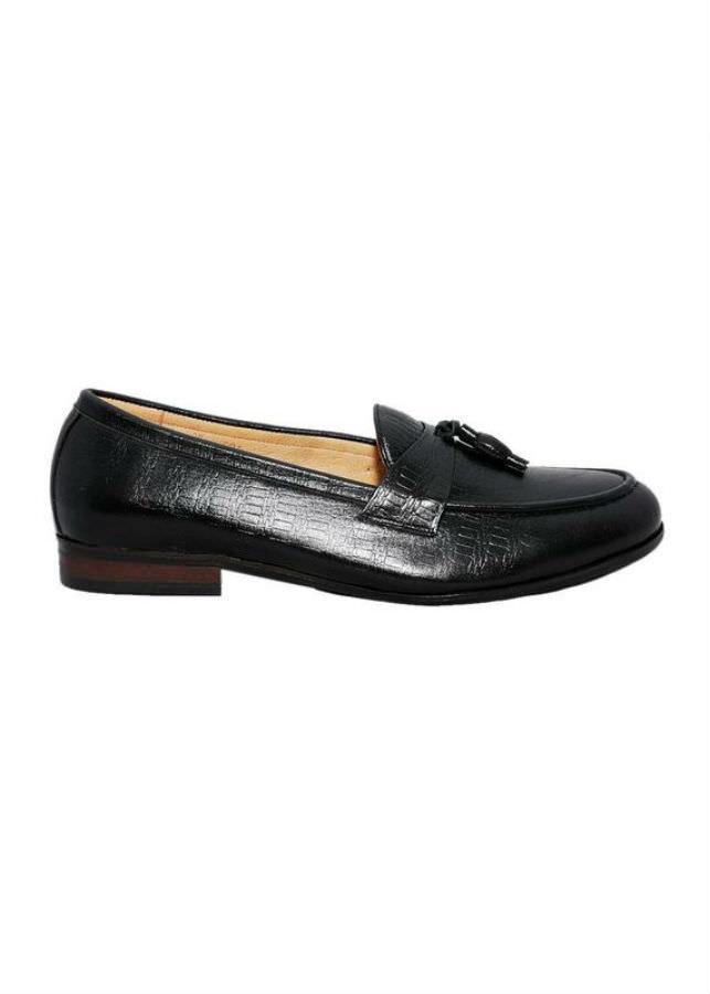 Giày Lười Nam Da Bò Elmi ESM45 - Đen (Size 38)