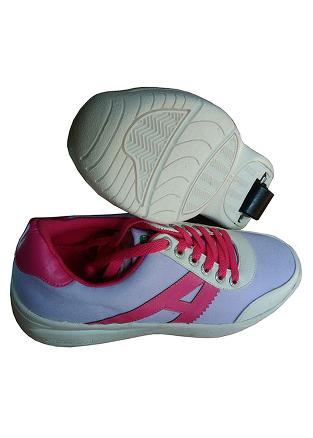 Giày bánh gót An Phát ( 007 - 01 - Trắng Hồng)