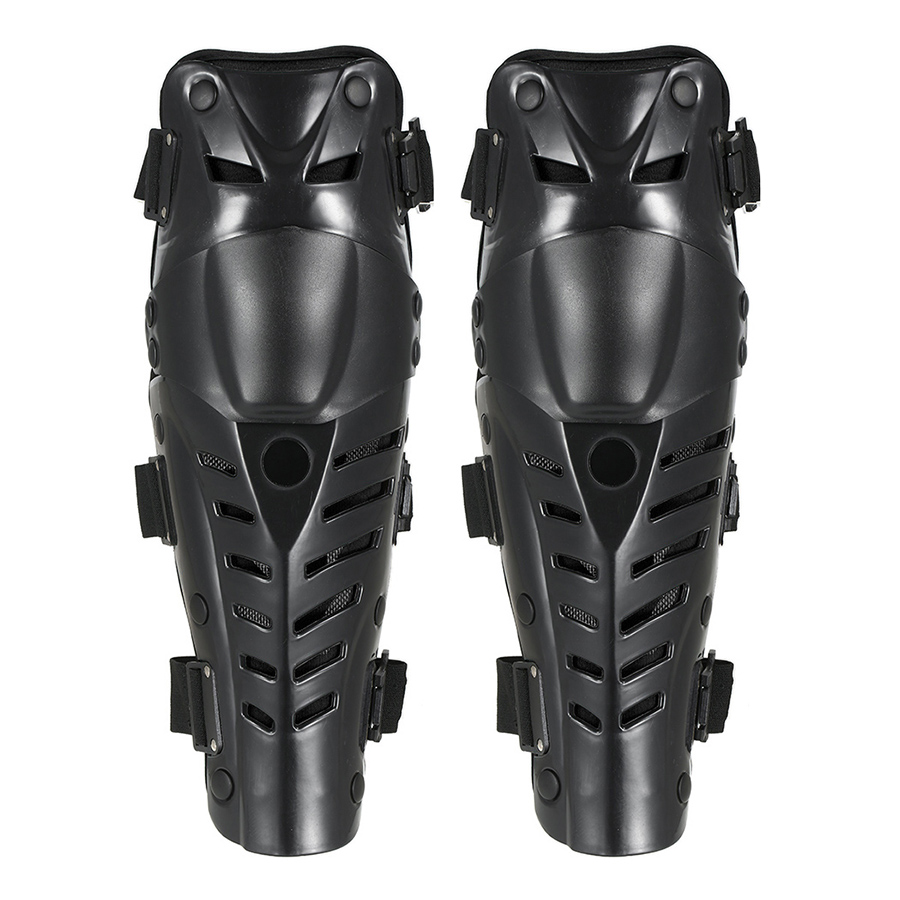 1 Pair of Knee Shin Guards Breathable Adjustable Knee Sleeve Cap Pads Protector Armor for Motorcycle Motocross Racing