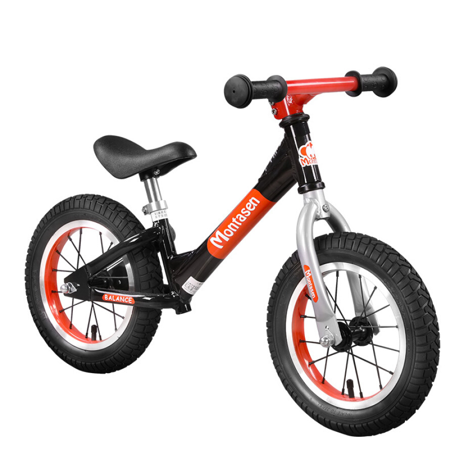 Meng Dasheng children balance car bicycle slide car inflatable wheel without pedal bicycle 2-3-6 years old race two-wheeled scooter small knight...