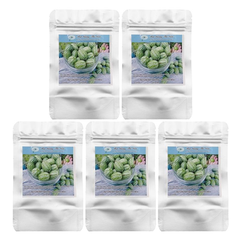 Bộ 5 Túi Hạt Giống Dưa Hấu Mini (Cucumis Melo) (5 Hạt/Túi)