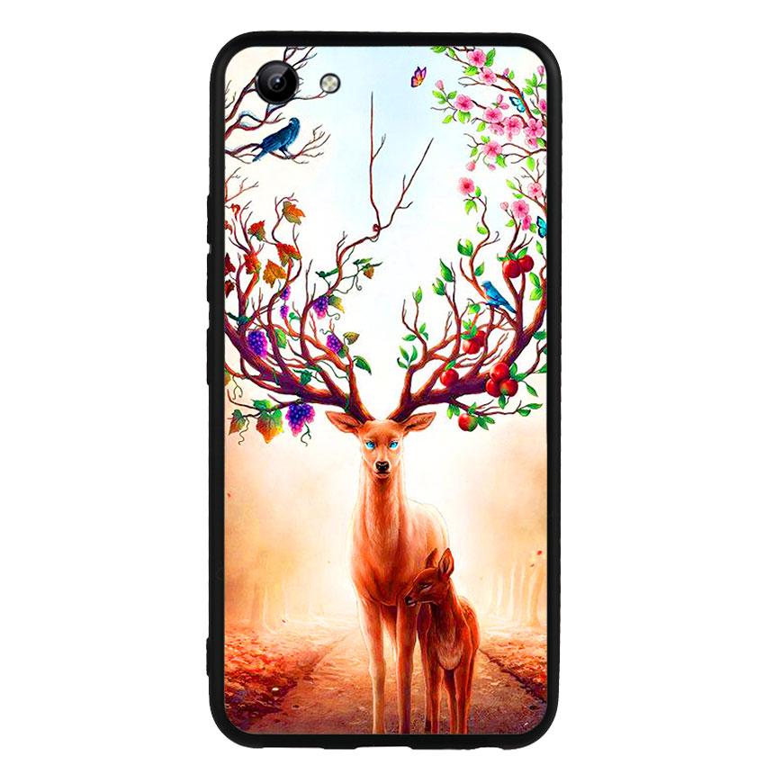 Ốp Lưng Viền TPU cho điện thoại Vivo Y81 -Deer 01