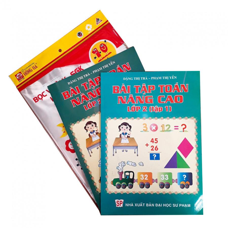 Combo Bài tập Toán nâng cao lớp 2 + tập bọc sách vở