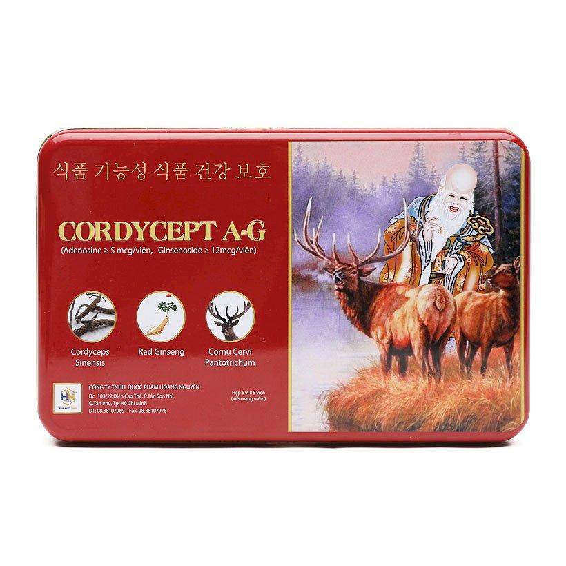 Thực Phẩm Chức Năng Cordycept A-G - đông trùng hạ thảo, nhung hươu, sâm đỏ