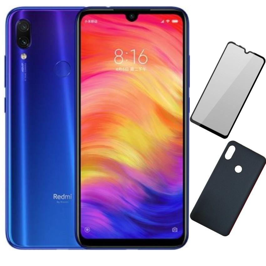 Bộ Điện Thoại Xiaomi Redmi Note 7 (32GB/3GB) - Ốp Lưng + Cường Lực 5D Full Màn - Hàng Nhập Khẩu (Full Tiếng Việt)