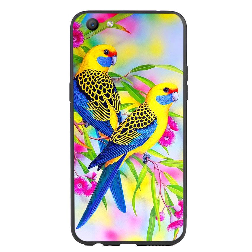 Ốp lưng nhựa cứng viền dẻo TPU cho điện thoại Oppo F3 - Couple Bird