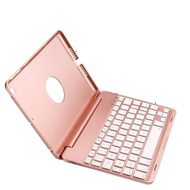 Ốp lưng bàn phím Bluetooth với 7 màu đèn nền dành cho iPad mini 1/2/3, mini 4, ipad air, ipad air 2, ipad 2017, ipad 2018, ipad Pro...